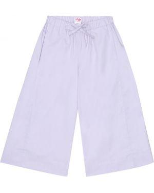Fioletowe spodnie bawełniane Il Gufo