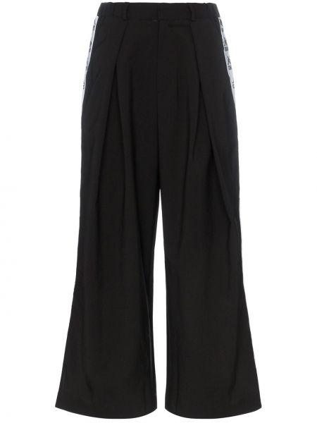 Черные спортивные брюки с карманами с манжетами Charm`s