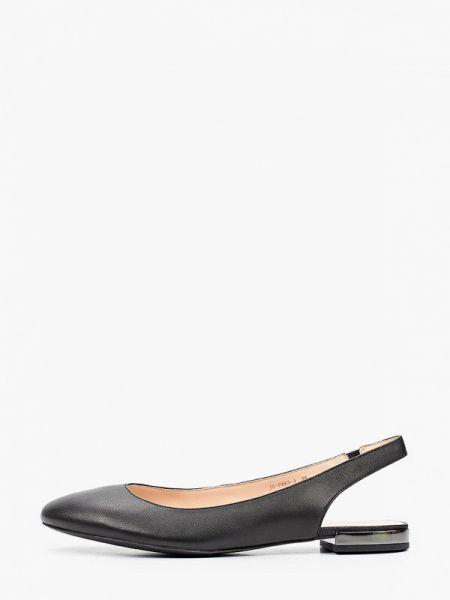 Черные кожаные туфли с открытой пяткой из натуральной кожи Pazolini