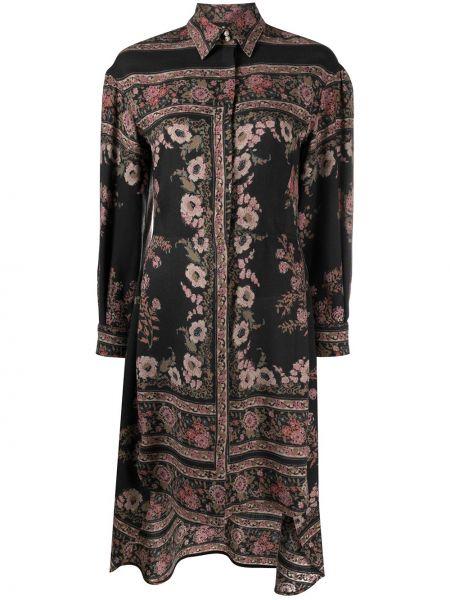 Платье рубашка - черное Etro