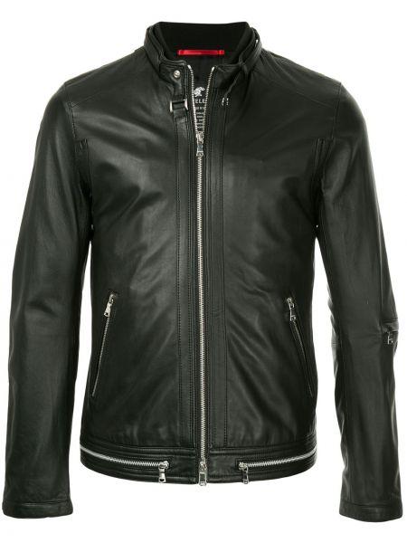 Нейлоновая черная куртка на молнии с круглым вырезом Loveless