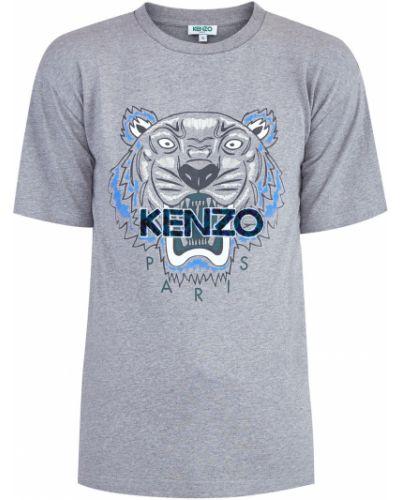 Футболка хлопковая с аппликациями Kenzo