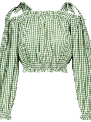 Zielony crop top bawełniany Alexandra Miro