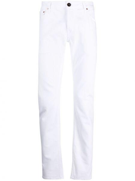 Klasyczne białe jeansy bawełniane Hand Picked