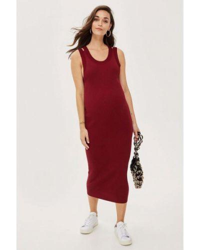 Бордовое платье Topshop Maternity