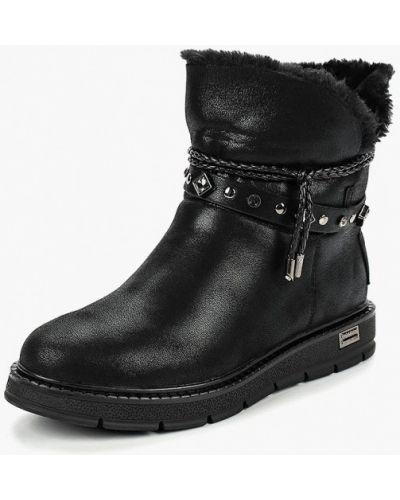Кожаные ботинки осенние черные Dino Ricci Trend