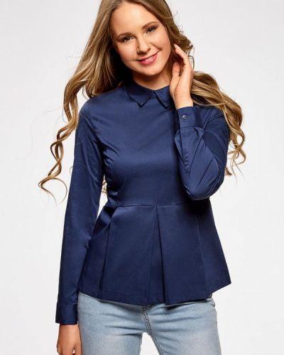 Блузка синяя Oodji
