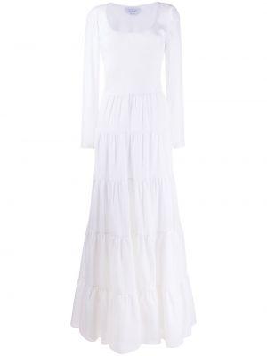 Шелковое с заниженной талией платье с длинными рукавами с вырезом Gabriela Hearst
