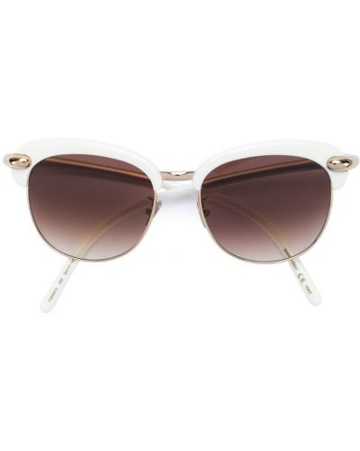 Солнцезащитные очки круглые металлические Pomellato