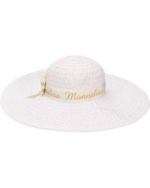 Шляпа белая свободного кроя Monnalisa