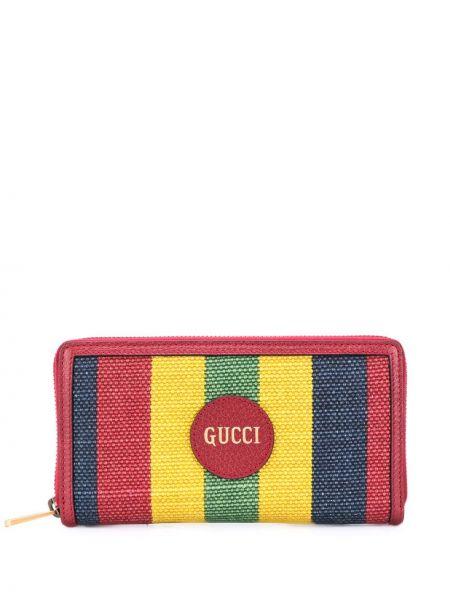 Żółty portfel skórzany Gucci