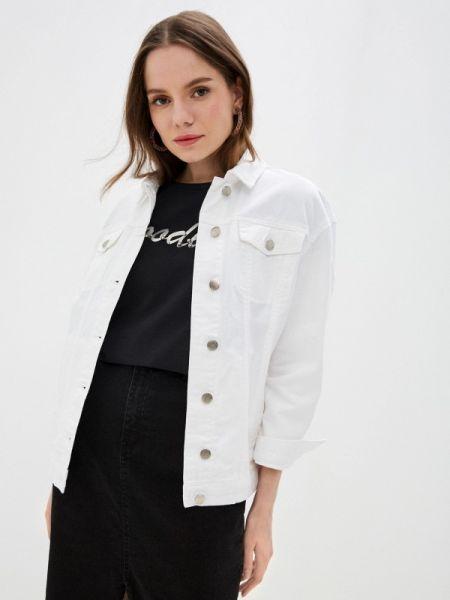 Джинсовая куртка весенняя белая Incity