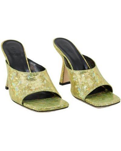 Sandały płaskie - żółte By Far