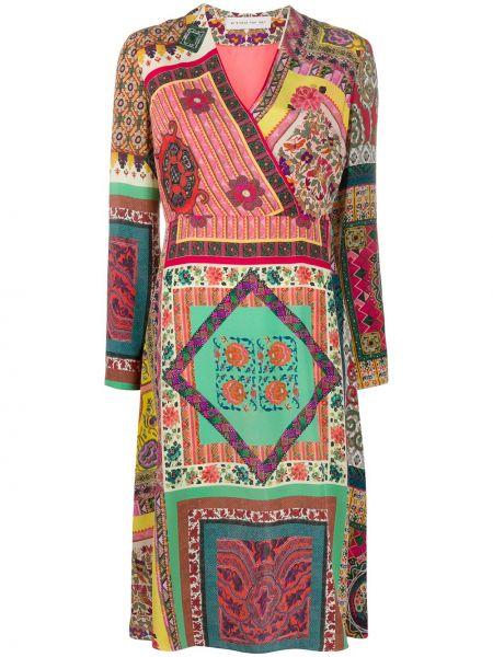 Шелковое платье миди - красное Etro