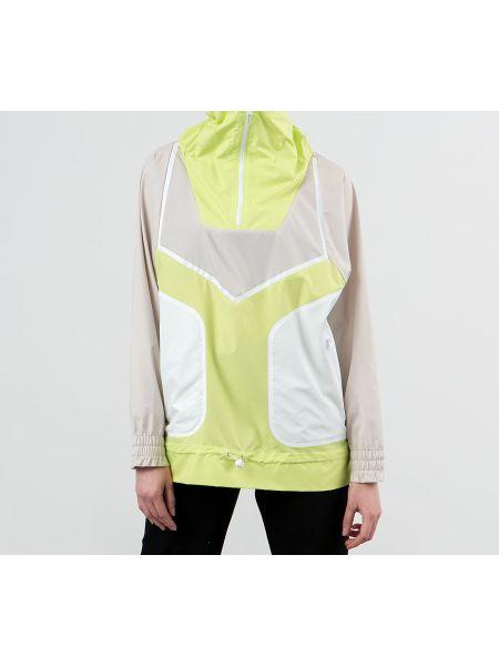Куртка белая жёлтая Adidas Performance