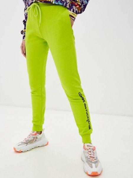 Пуховые зеленые спортивные брюки Comme Des Fuckdown