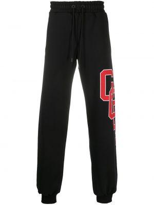 Czarny bawełna bawełna dres z kieszeniami Gcds