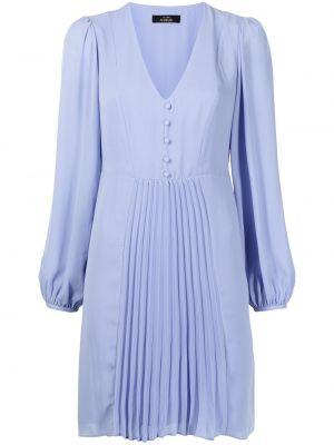 Niebieska sukienka mini z dekoltem w serek Twinset