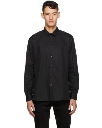 Klasyczny czarny klasyczna koszula z mankietami z kołnierzem Saint Laurent