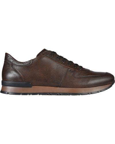 Кожаные кроссовки - коричневые A.testoni