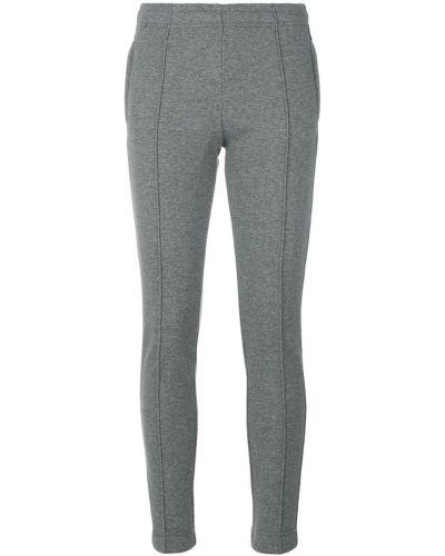 Серые зауженные брюки Moncler Grenoble