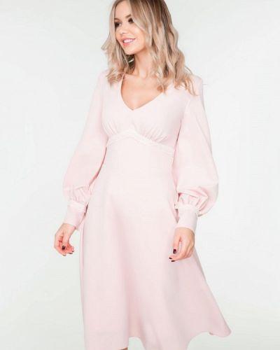 Платье миди розовое Solou
