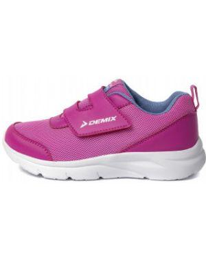 Облегченные розовые спортивные кожаные кроссовки Demix