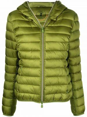 Зеленая куртка с заплатками Save The Duck
