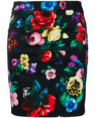 Юбка мини с цветочным принтом с принтом Love Moschino