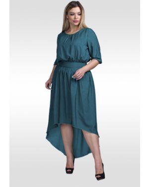 Платье с поясом в горошек шифоновое Lilacollection