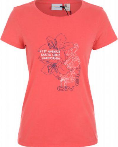 Спортивная футболка в полоску приталенная O`neill
