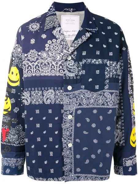 Bawełna bawełna z rękawami niebieski koszula Readymade