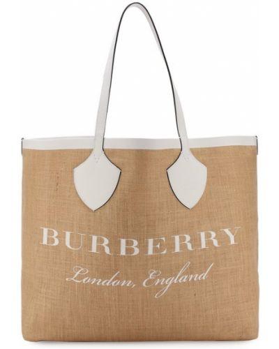 Сумка шоппер кожаный с ручками Burberry