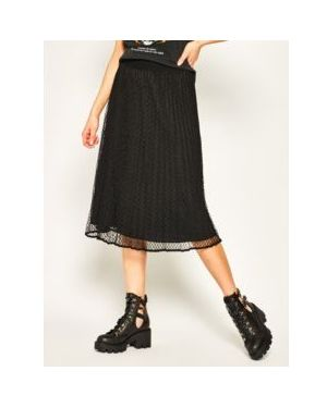 Prążkowana czarna spódnica midi Dkny