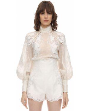 Рубашка без воротника с воротником-стойкой Zimmermann