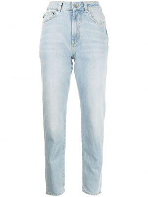 Niebieskie mom jeans z printem Fiorucci