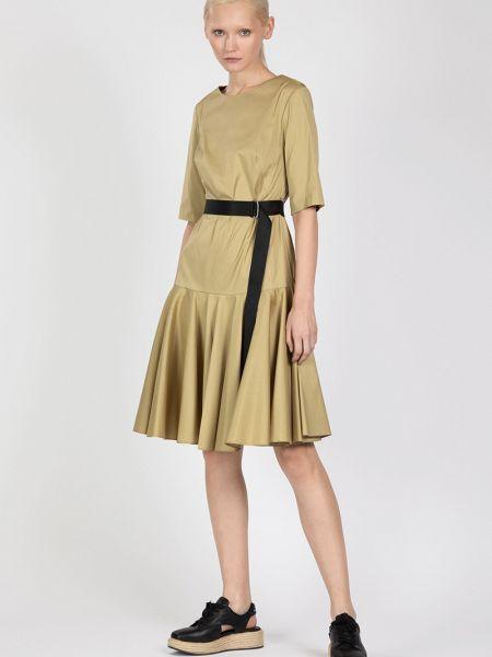Платье с поясом с оборками Vassa&co