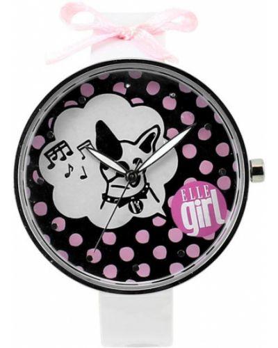 Кварцевые часы на кожаном ремешке водонепроницаемые Elle Time