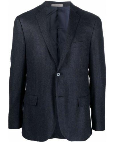 Синий кашемировый пиджак Corneliani