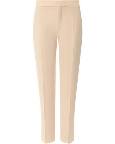 Укороченные брюки в полоску бежевый Chloé