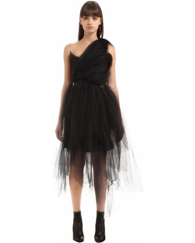 Черное платье на одно плечо из фатина Vivienne Westwood