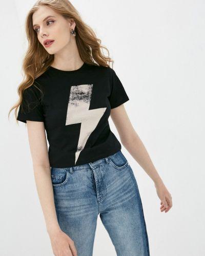 Черная футболка с короткими рукавами One Teaspoon