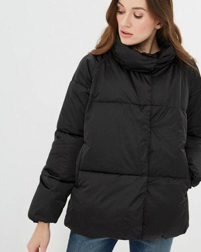 Утепленная куртка демисезонная черная Iwie
