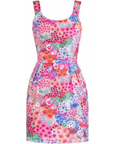 Платье мини с цветочным принтом со складками Alexander Terekhov