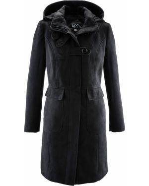 Пальто с капюшоном демисезонное милитари Bonprix