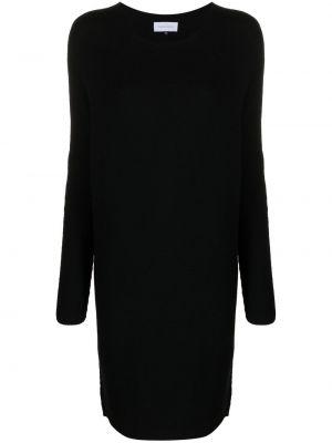 Черное платье с вырезом Christian Wijnants