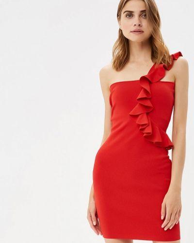 Платье с открытыми плечами красный You&you