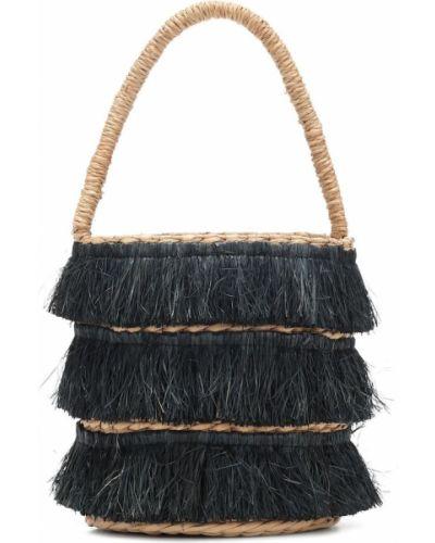 Czarna torba na ramię skórzana Kayu