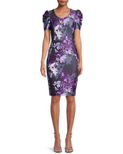 Приталенное платье-футляр в цветочный принт на молнии Calvin Klein