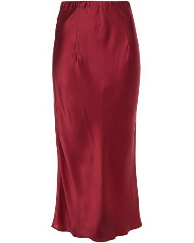 Облегченная сатиновая красная юбка миди Olivia Von Halle